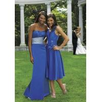China Fashion strapless royal blue floor-length bridesmaid dress wholesale