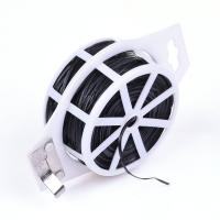 China PVC Coated Wire Twist Tie with Cutter Flat Wire wholesale