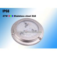 China 27W IP68 SS316 Housing Underwater LED Boat Light High Luminous Efficiency wholesale