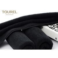 China Black Eco Friendly Comfortable Sports Hand Towels Microfiber Embroidered Hand Towels wholesale