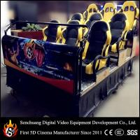 Quality 6 Dof Hydraulic 5D cinema / 9d cinema , 5D Movie Equipment with difference color for sale