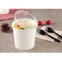 China Hot Take Out Soup Containers Full Colour Printing With PE Lamination wholesale