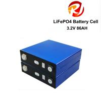 China Rechargeable 3.2V 86Ah LiFePO4 Battery Cell Factory Price For EBike AGV Robot Lawn Mower wholesale