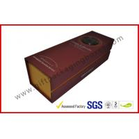 China Handmade Silver Printed 1400g Grey Board Wine Packaging Boxes , Magnetic Wine Gift Packaging Boxes wholesale