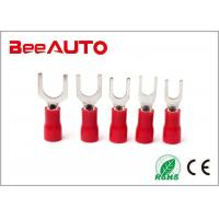 China Vinyl Locking Insulated Spade Terminals Plastic Solder Sleeve Max Current  19A wholesale