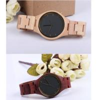 China Fashion Charming Bewell Mens Wooden Watch 100% Natural Wood With Miyota 2035 wholesale