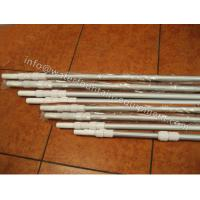 China Corrugated Surface Swimming Pool Accessories Telescopic Pole 0.8mm Thick 2 X 240cm wholesale
