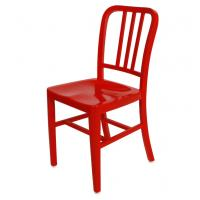 China Indoor Red Mental EMECO Navy Chairs With Aluminum , Dining Room Furniture Sets wholesale