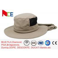 China Joint Khaki Fishman Bucket Hat Protect neck from sunburn With Adjustable wholesale