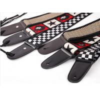 China Customize Guitar Strap / Monogrammed Leather Guitar Strap With Buckle wholesale