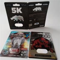 China 3D Card Blister Pack Packaging Custom Printed Paper Card Rhino 7 Jaguar 30000 Sex Pill Pack wholesale