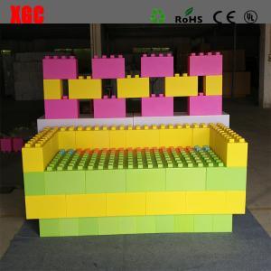 China Rotational Moulding PE Building Block Set Plastic Lego Blocks 20x20x40 cm wholesale