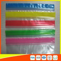 China Transparent Plastic Packing Ziplock Bags Antistatic with Zipper Top Blue Lip wholesale