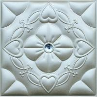 Buy cheap Customized PC Silver 3D Leather Wall Panels Living Room Background from wholesalers