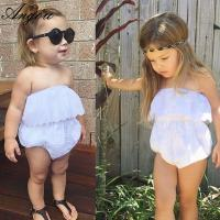 China Angou baby girls cute rompers INS lace pretty jumpsuits infant toddler girls rompers BABY wholesale