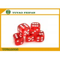 China Custom Engraved Dice White Dot Transparent Dice Set Round Corner Game Dice 16 Mm wholesale