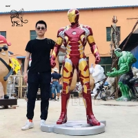 China Marvel Avengers Iron Man Sculpture Resin Life Size Mark 43 Statue Home Decoration wholesale