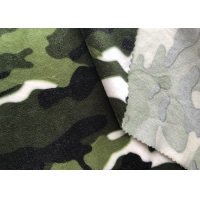 Camouflage Print One Side Brushed 240GSM Soft Plush Fabric