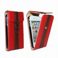 Buy cheap Leather Case for iPhone 5/New iPhone, Keep in Stock, 100pcs MOQ from wholesalers