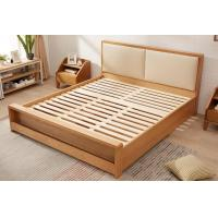 China Pine Queen Size Solid Wood Bed Frame With Drawers Chunky Wooden Beds High Standard wholesale