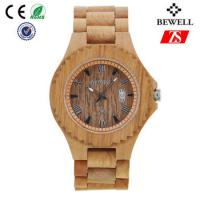 China Old Annatto Wooden Wrist Watch With Japan Quartz Movement , ROHS FSC Standard wholesale