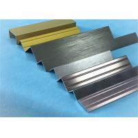 China Customized Length Aluminium Floor Strips / Aluminium Trim For Ceramic Decoration wholesale