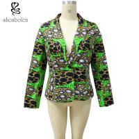 China Long Sleeve Lined Kitenge Fabric African Ladies Jackets Wax Printed Colorful wholesale