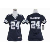 China Women Nike NFL Dallas Cowboys 24 Claiborne stitched jersey wholesale