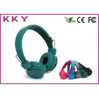 China Lightweight Green / Black On Ear Bluetooth Headphones With 108dB Sound Pressure wholesale