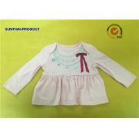 China Fashion Necklace Screen Print Tee  Long Sleeve Envelop 100% Cotton Baby Girl Top wholesale