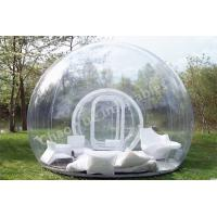 Quality 0.8mm PVC Clear Inflatable Bubble Tent for outdoor for sale