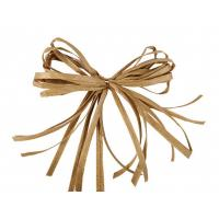 China Gift package paper pretied raffia ribbon bow Tie and bundle egg for pack in opp bag wholesale