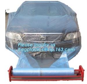 China auto polyurethane masking plastic for painting 4*300m, 3m plastic auto paint masking protection film for cars, bagplasti wholesale