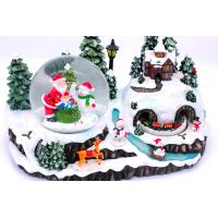 Quality Christmas Holiday Music Box with snow globe for sale