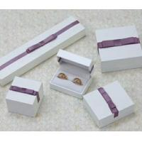 China Velvet Or Leather Inside Paper Jewelry Boxes For Pierced Earrings / Pendant wholesale