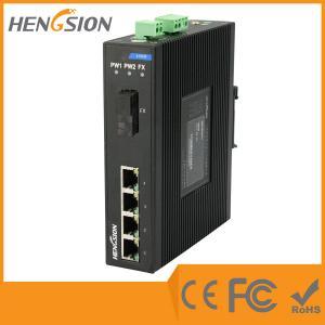 China 4 Megabit Ethernet / 1 Megabit FX 5 Port Network Switch Din Rail wholesale