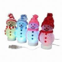 China Christmas Gifts Gleamy Snowman, Powered by USB, Sized 95 x 50 x 50mm wholesale