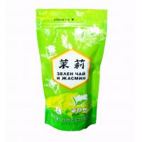 China Shiny Peak Green Tea Bags Packaging Stand Up Aluminum Foil Jasmine Pouch wholesale