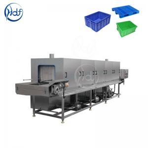 China Fruit Turnover Basket Washing Machine Energy Saving 50L / Min Water Consumption wholesale