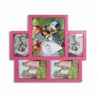 China Wooden Photo Frame with Spray-paint Finish, Available in Various Sizes and Colors wholesale
