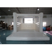 China Outdoor Jumping Bouncer Inflatable Wedding Bouncy Castle White Bounce House For Adults And Kids wholesale