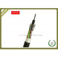 China Non - Metallic Outdoor Fiber Optic Cable Stranded Loose Tube With Coated Aluminum Strip wholesale
