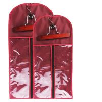 China Custom wig bag pvc hair extension packaging silk bag and wooden hanger can print logo.Size 29CM*65CM. wholesale