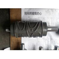 China Alloy Steel Embossing Roller Chrome Plated , Hardness HRC 62 wholesale