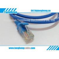 China Lan Cable Assemblies Ends Terminated Blue Plug Connectors SR Moulded T-011 on sale