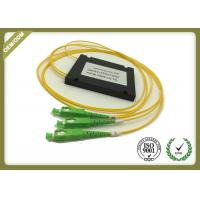 China Fiber Optic 1x2 PLC Splitter With SC / APC Connector Low PDL High Stability wholesale