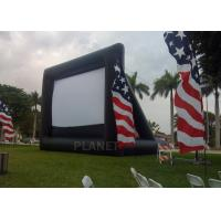 China Advertising Inflatable Outdoor Movie Screen , Inflatable Projector Screen wholesale