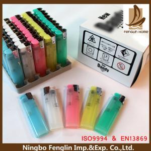 China Customer Logo Printed ABS Refillable Cigarette Lighter Flint Gas Lighter 80x22x11.30mm wholesale