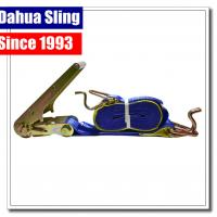 China Lockable Vehicle Tie Down Straps , 75mm X 9mtr Trailer Ratchet Straps wholesale