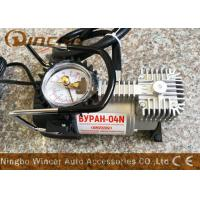 China Auto Tire Inflator 12v Portable Air Compressor With Set Psi Stop Feature wholesale